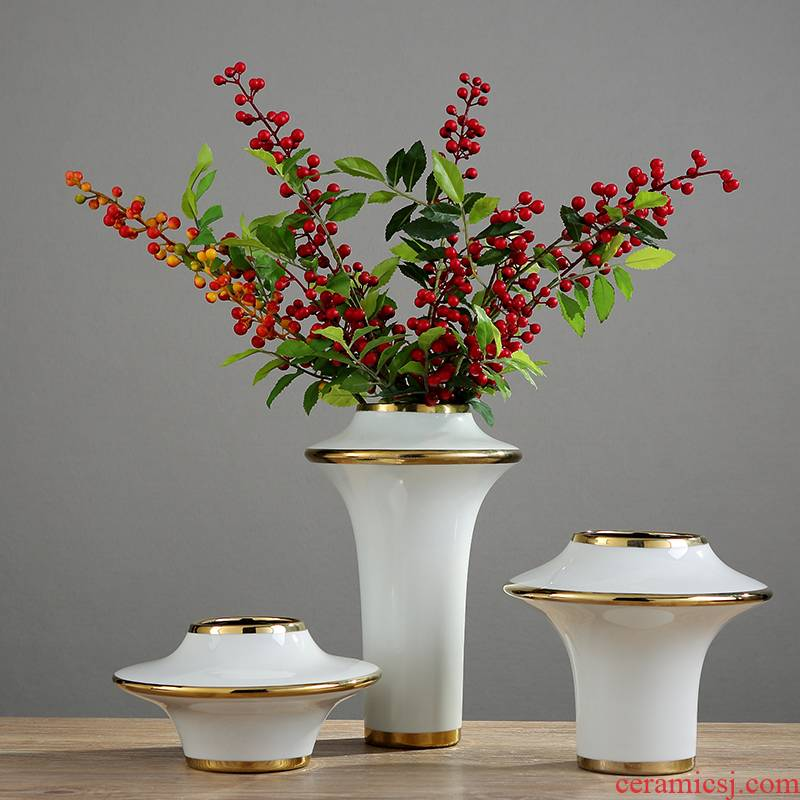 Northern wind ceramic key-2 luxury light wine excessive flower arranging device TV ark is the sitting room porch soft adornment art household act the role ofing is tasted