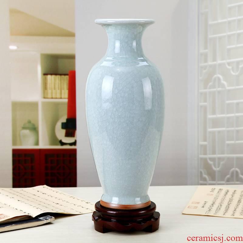 Sitting room office furnishing articles porcelain ceramic vase decoration jun porcelain goddess of mercy bottle antique flower vases, slitting lines