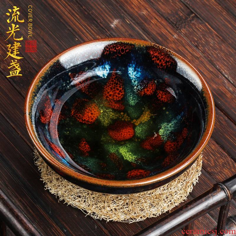 Artisan fairy jianyang built lamp cup run of mine ore masters cup a cup of pure checking ceramic household large sample tea cup tea light
