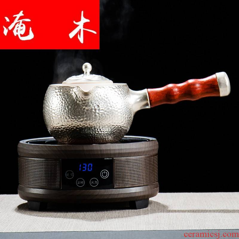 Submerged wood tasted silver gilding craft ceramic boiling tea tea is a Japanese side the pot of tea teapot TaoLu household electric electricity