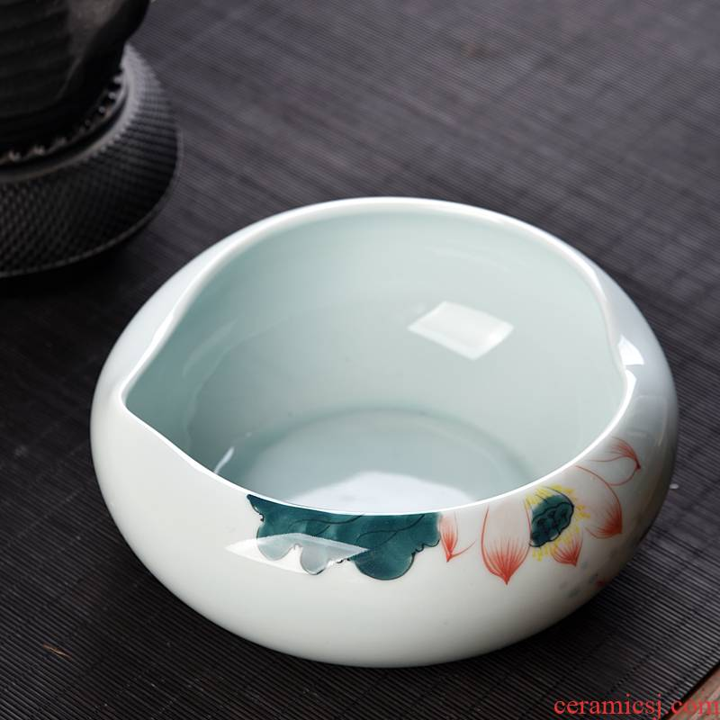 Hui shi tea to wash large ceramic household tea tea accessories writing brush washer bowl cups ashtray pot water to wash