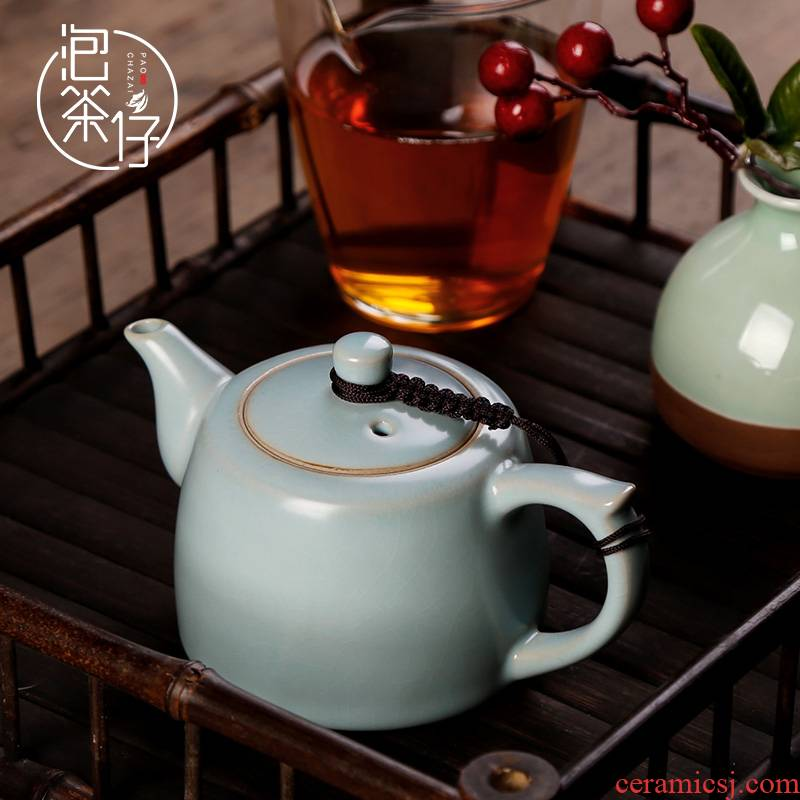 Your up small ceramic teapot kung fu household single pot of pu 'er tea set Your porcelain can keep open bar pot of tea is well
