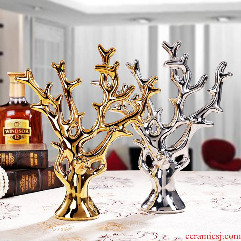 The Nordic idea ceramic golden rich tree furnishing articles household act The role ofing is tasted hotel lucky animals and sitting room decoration soft outfit