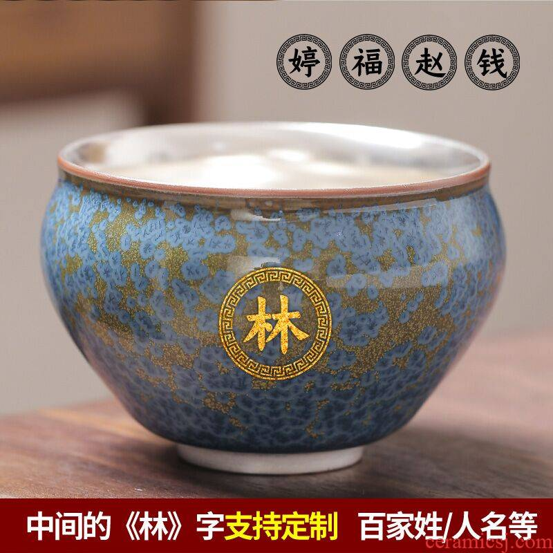 Floating cui aquamarine ceramic kung fu tea master cup sample tea cup single cup large silver single coppering. As silver cup restoring ancient ways