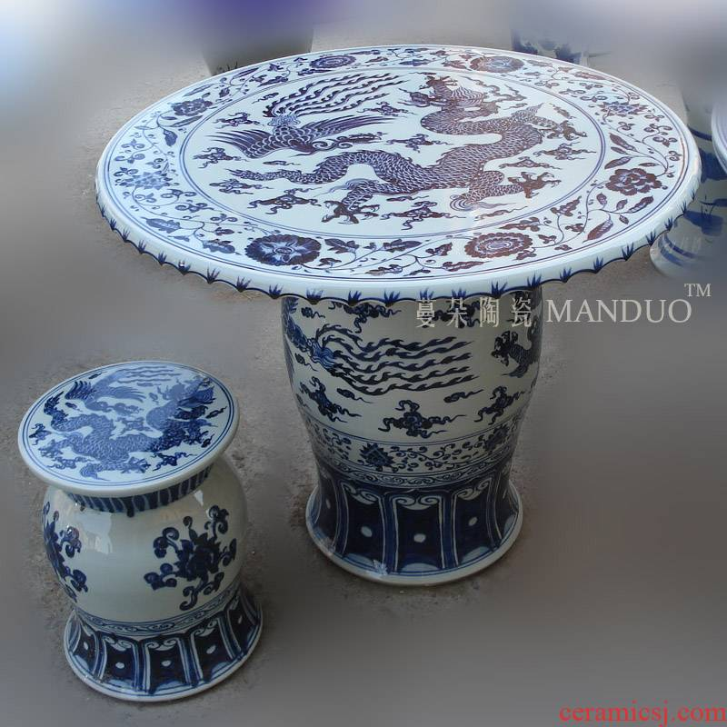 Jingdezhen blue and white porcelain longfeng table porcelain hand - made yongle jintong of longfeng grain porcelain porcelain imitation GuLongWen