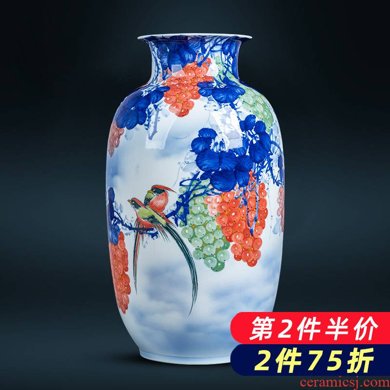 Jingdezhen ceramics hand - made fruitful achievements vase furnishing articles sitting room adornment is placed the new Chinese style household porcelain