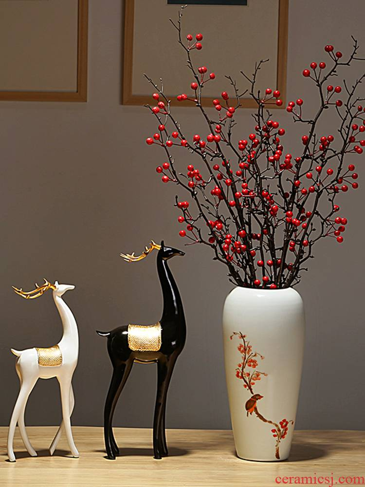 Jingdezhen ceramics vase manual creative furnishing articles of Chinese style European household decorations sitting room porch dry flower arranging flowers