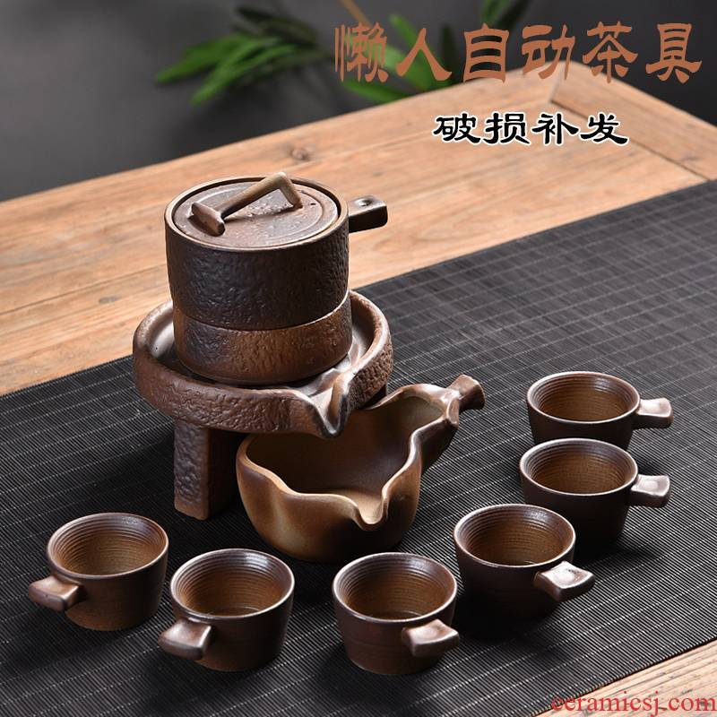 Hui shi firewood stone mill semi automatic kung fu tea set simple ceramic household tea new fortunes