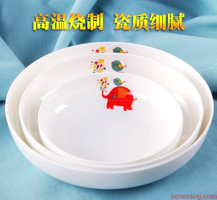 Qiao mu plate suit ceramic plate household ceramics creative dish dish dish deep dish soup plate fruit plates