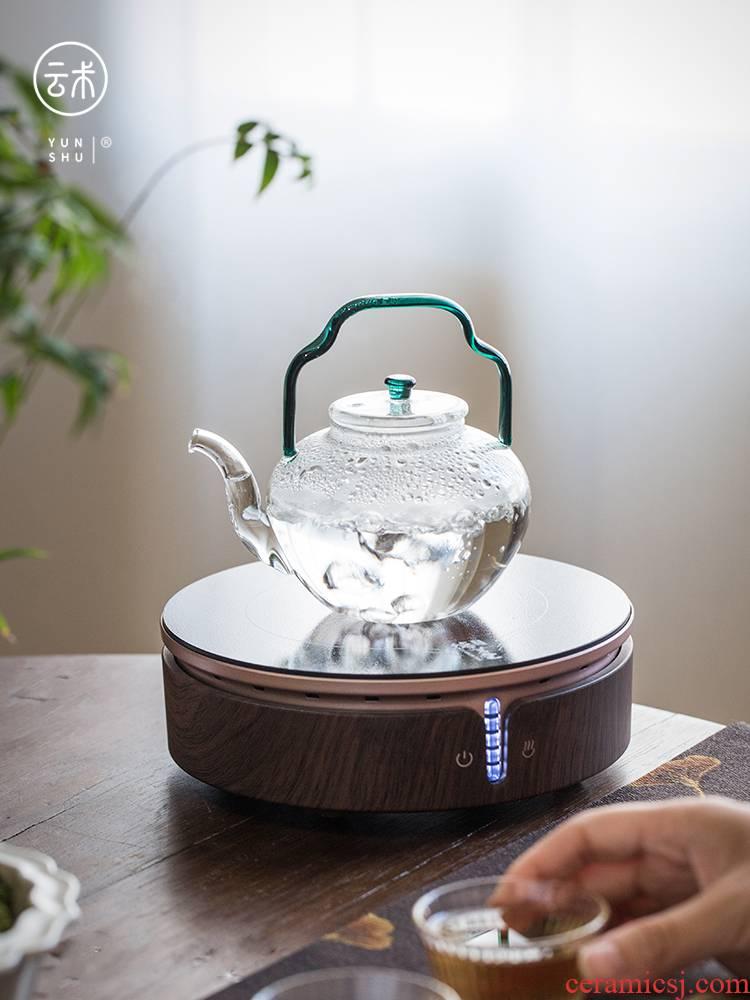 Cloud (Japanese hands wu via girder for heat - resistant glass teapot filter electric TaoLu high - temperature cooking pot tea sets