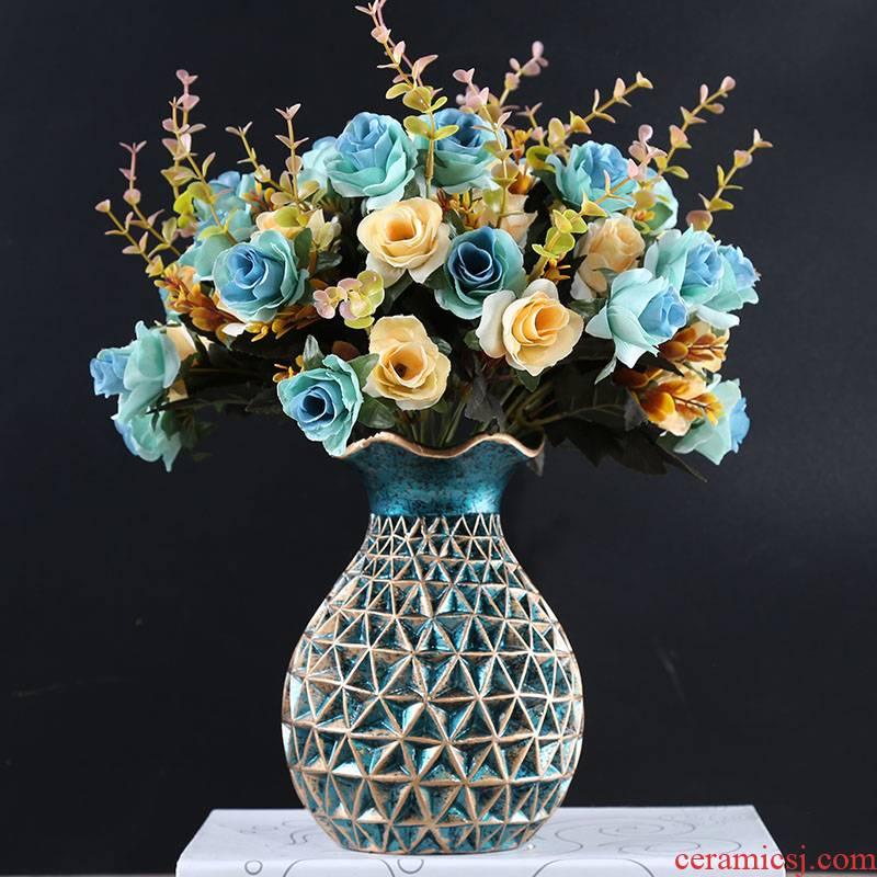 Nordic vase furnishing articles sitting room dry flower flower arranging ceramics European modern example room table soft decoration