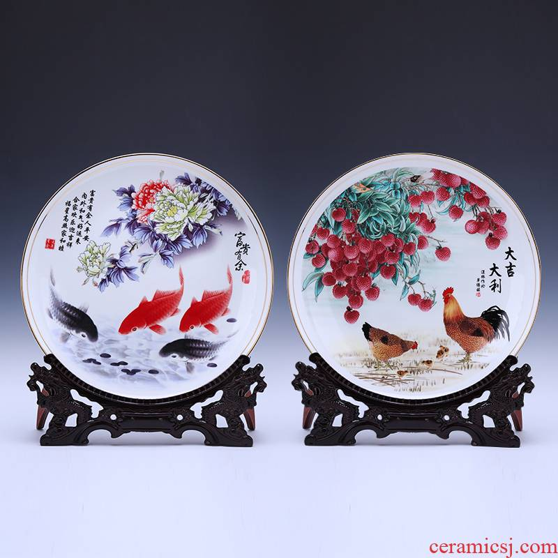 Hang dish of jingdezhen ceramics decoration plate up phnom penh ipads porcelain light modern key-2 luxury home sitting room adornment is placed
