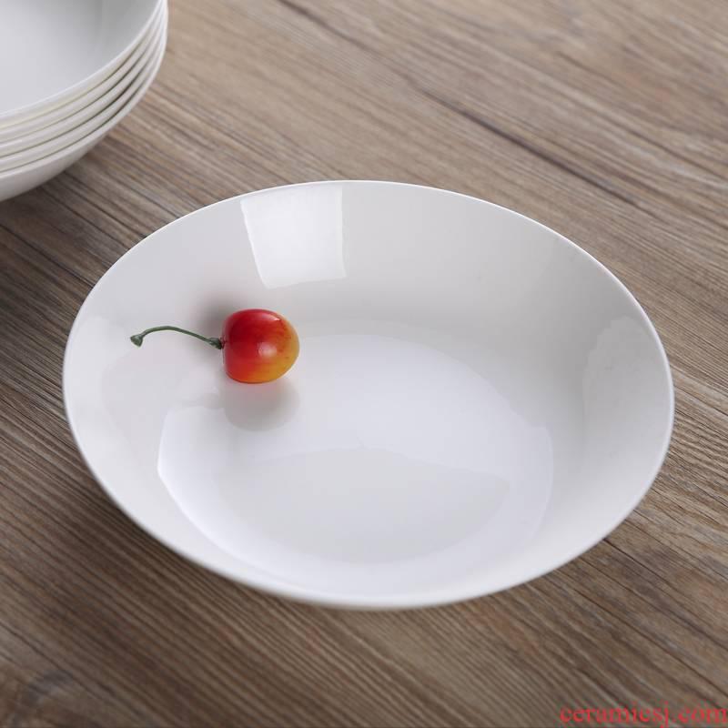 Ceramic tableware ipads porcelain dish plate of jingdezhen Ceramic white household utensils FanPan cold dish dish deep dish dried fruit plate