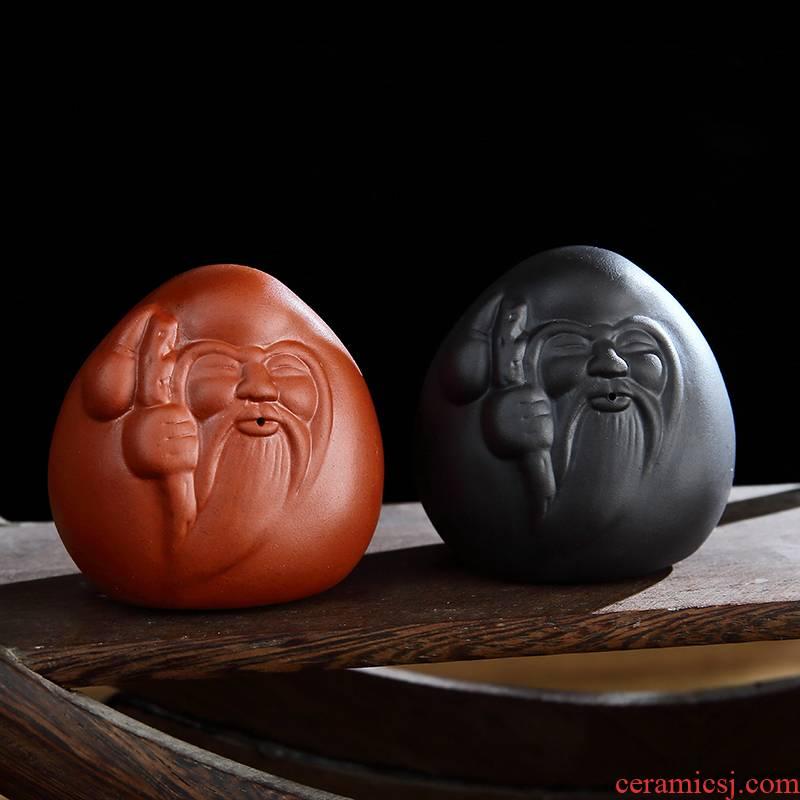 Miniascape of kung fu tea accessories boutique creative tea pet ceramics can raise zen tea purple mini small place