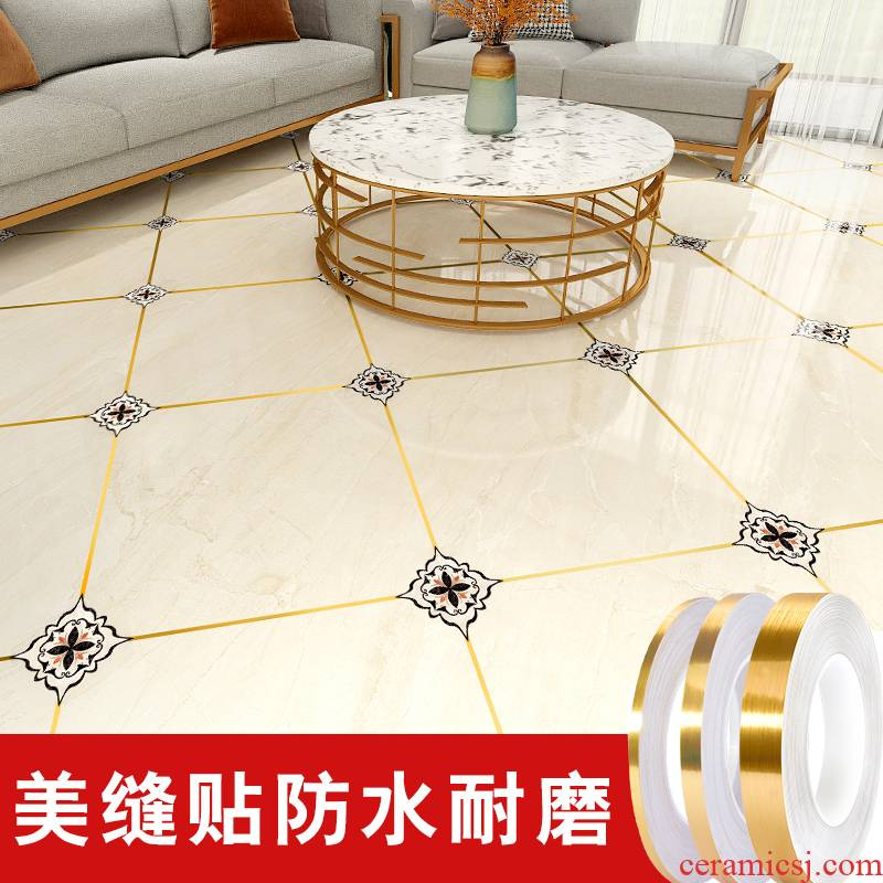 Seam to embellish beauty becomes adhesive waterproof decorative lines sitting room ground floor decals stick modesty floor tile ceramic tile