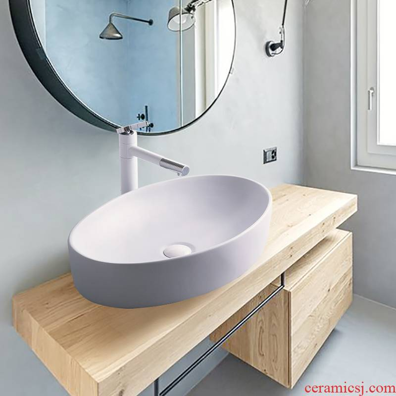 Nordic stage basin to single birdbath simple toilet lavabo lavatory basin basin ceramic household balcony