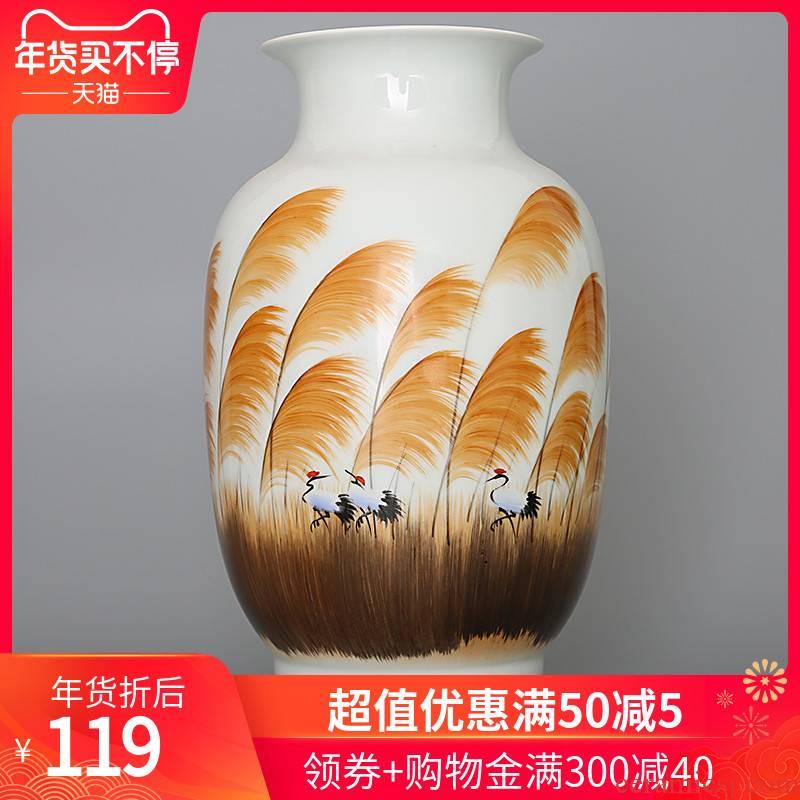 399 manual hand - made jingdezhen ceramics powder enamel vase living room TV cabinet in living in adornment handicraft furnishing articles