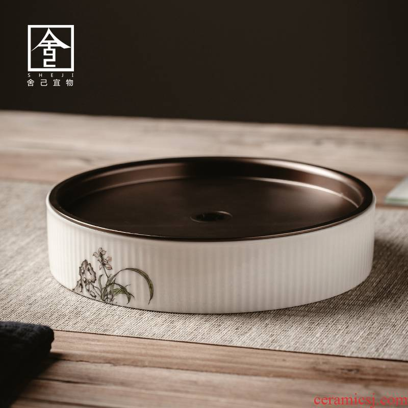 "The Self - ""appropriate content small dry mercifully machine dry tea tray was Japanese circular water small small tea tray tea sea ceramics"