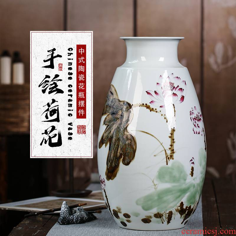 The Master of jingdezhen ceramic vase hand made blue and white porcelain decoration decoration household act the role ofing is tasted furnishing articles