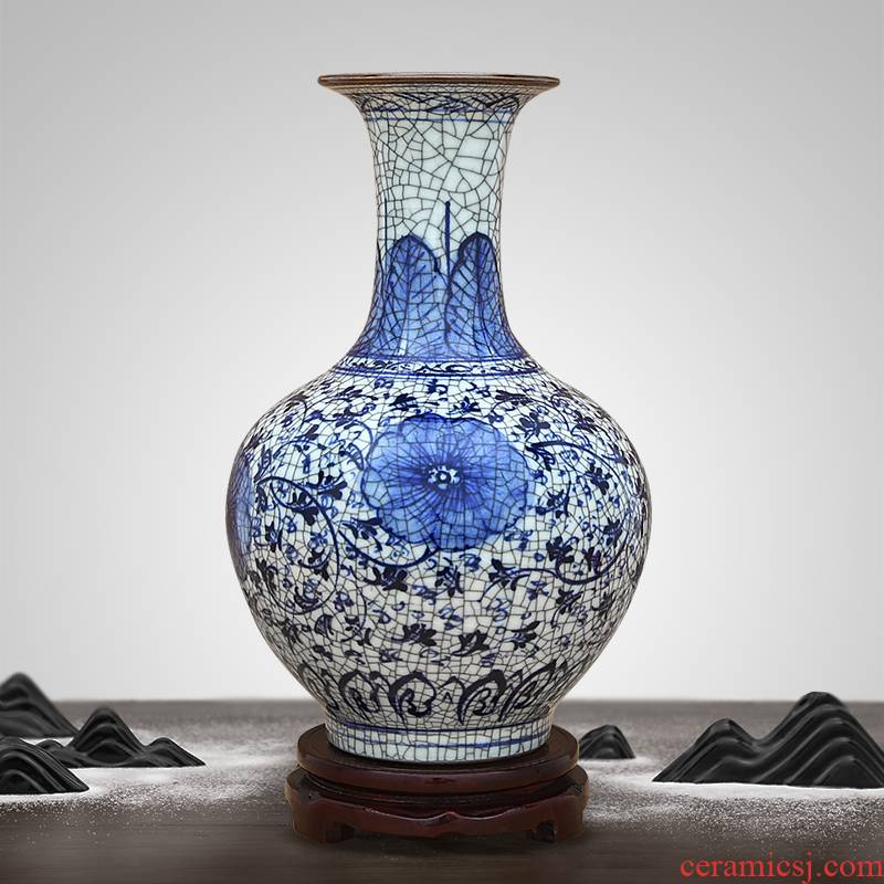 Chinese antique vase of jingdezhen ceramics handicraft furnishing articles home sitting room porch rich ancient frame ornaments