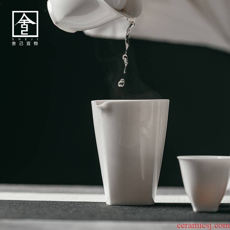 "The Self - ""appropriate content Japanese fair keller inverse white tea ware household retro points cups jingdezhen kung fu tea set"