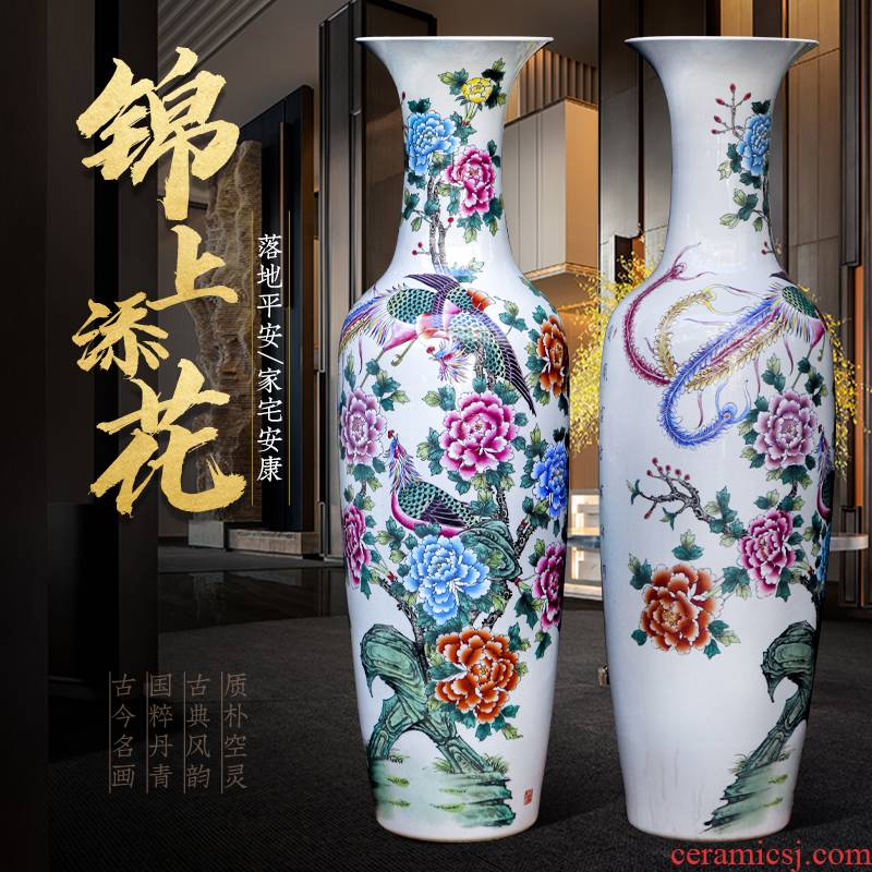 The icing on The cake of jingdezhen ceramics hand - made furnishing articles of large vase household adornment to heavy large living room