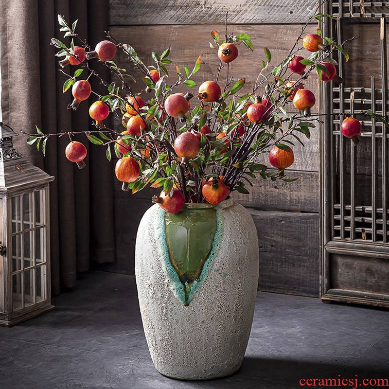 I and contracted big American ceramic vase furnishing articles sitting room ground European new Chinese vases, flower POTS flowerpot