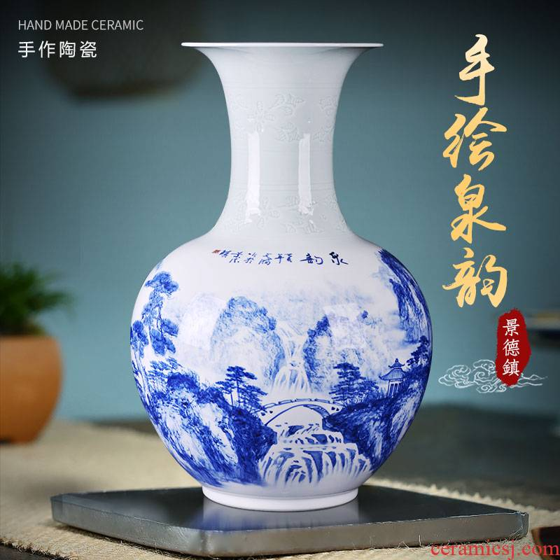 Chinese jingdezhen ceramics vase hand - made the design home sitting room adornment porcelain flower arranging TV ark, furnishing articles