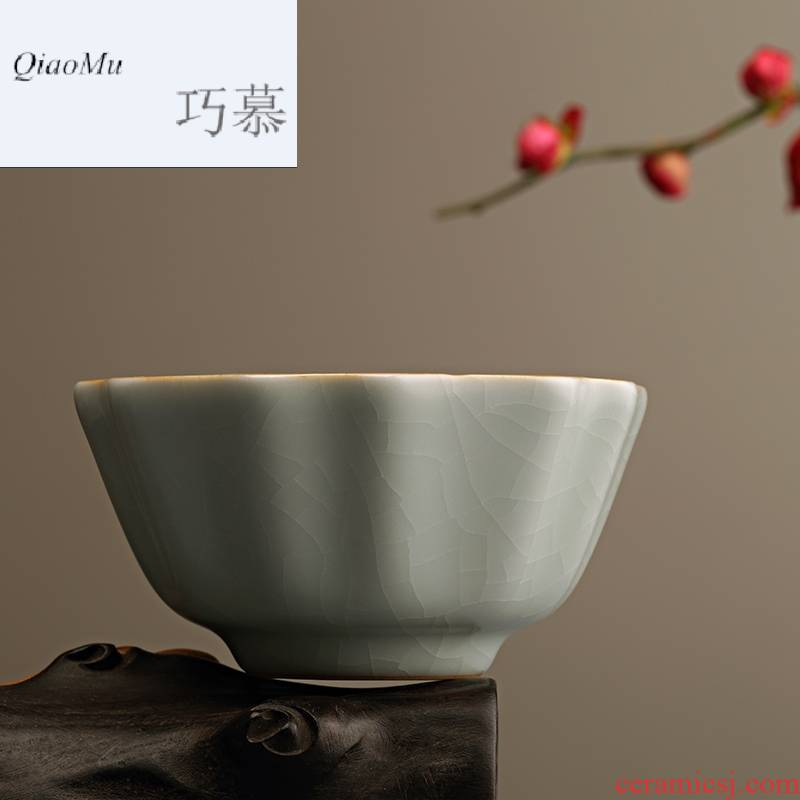 Qiao MuFengZi your up cup tea sample tea cup peony cup tea set personal move ceramics cup master cup by hand
