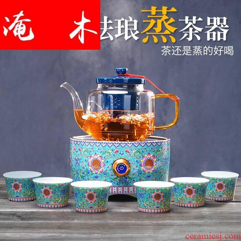 Submerged wood glass boiled tea steam boiling kettle black tea, white tea tea steamer TaoLu boiled tea stove automatic power electricity