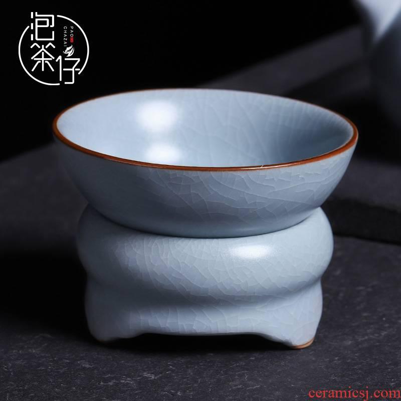 Kongfu tea sets accessories tea every reasonable filter gauze cup) creative your up ceramic tea ware