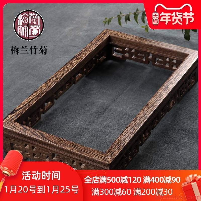 Solid wood production base induction cooker framework and creative tea box home tea accessories kung fu electric furnace