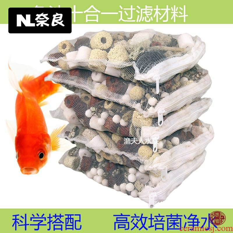 The fish tank and a filtering material ceramic ring bacteria house lava rock - coral ipads activated carbon filtration material fish pond oyster shell