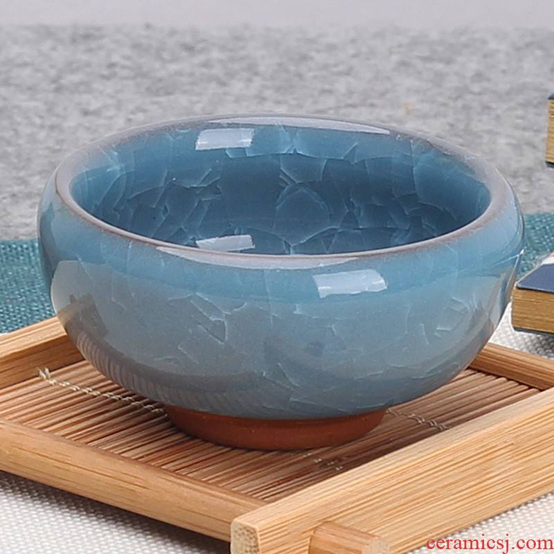 Hui shi cups - ice to crack the shallow lake blue ceramic cup your up with small sample tea cup ice crack cup glass ye, blue and white porcelain