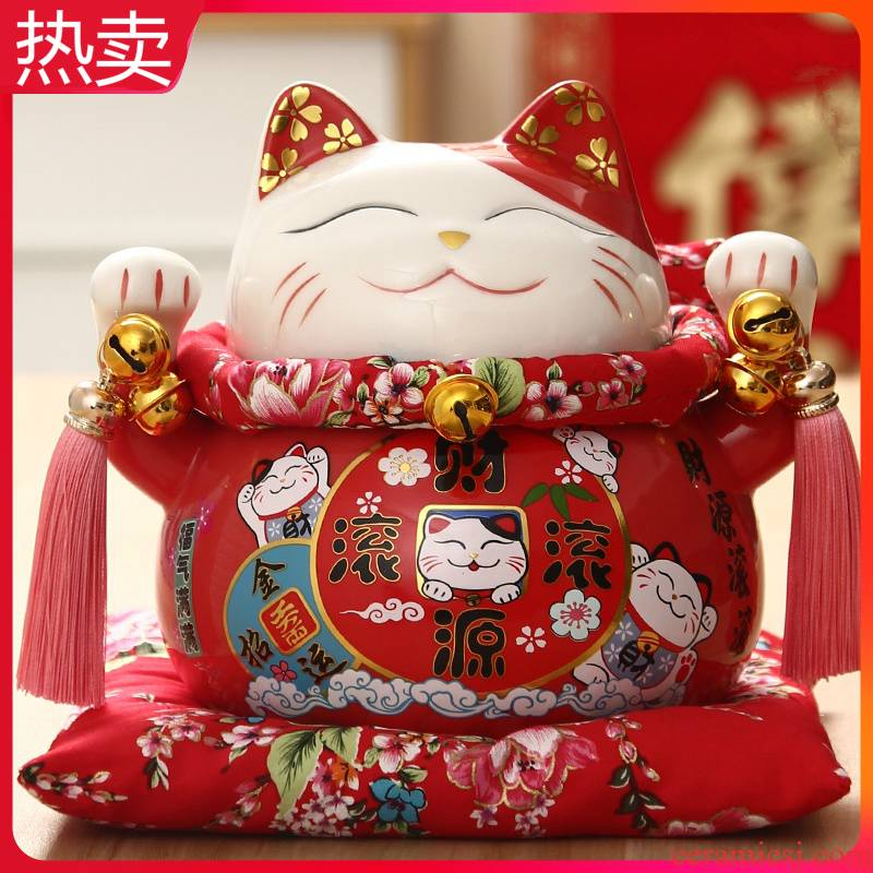 10 inch wave plutus cat furnishing articles large open a gift shop furnishing articles, lovely ceramic creative gift to the checkout counter