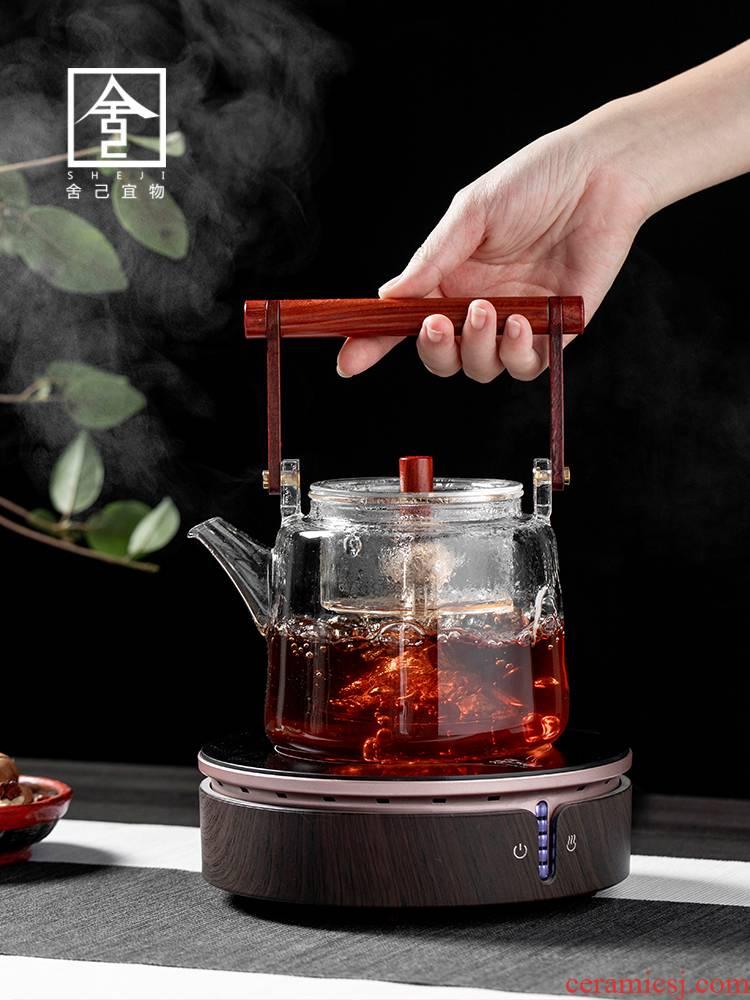 "The Self - ""appropriate content TaoLu glass cooking pot electricity boiling tea tea household boiled tea stove steamed white tea pu - erh tea POTS"