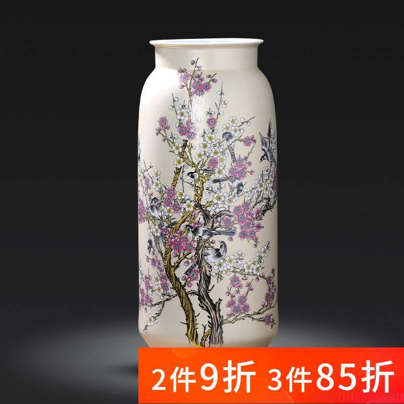 Jingdezhen porcelain ceramic large landing big vases, flower arranging furnishing articles sitting room adornment of Chinese style household porcelain