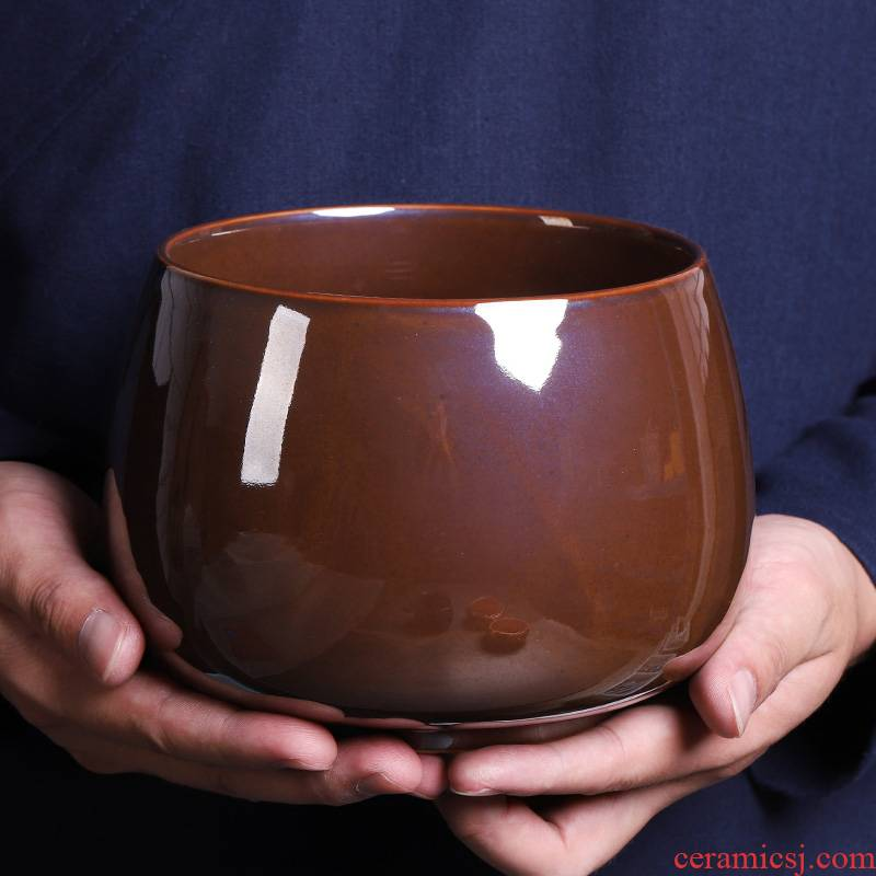 Japanese zen up tea wash large extra - large ceramic tea cup household water, after the wash water containers of tea cups