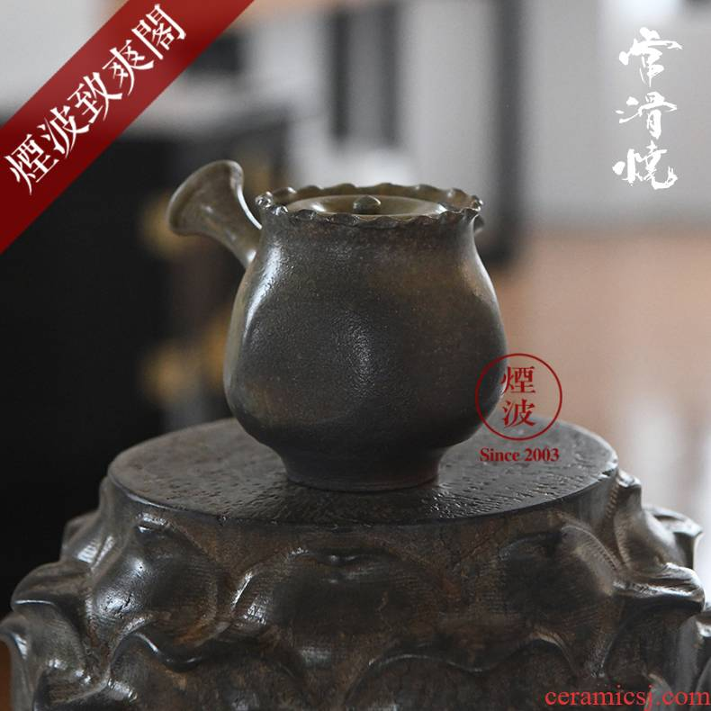 Those Japanese, slippery burn small western ping up - cross hands lasts a checking ceramic POTS teapot 23-6