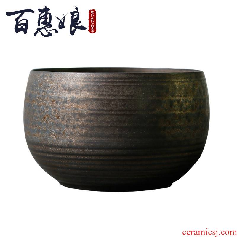 (niang thin foetus oxidation of tea by hand wash water tea cups to receive large bowl of ceramic building tea water fittings