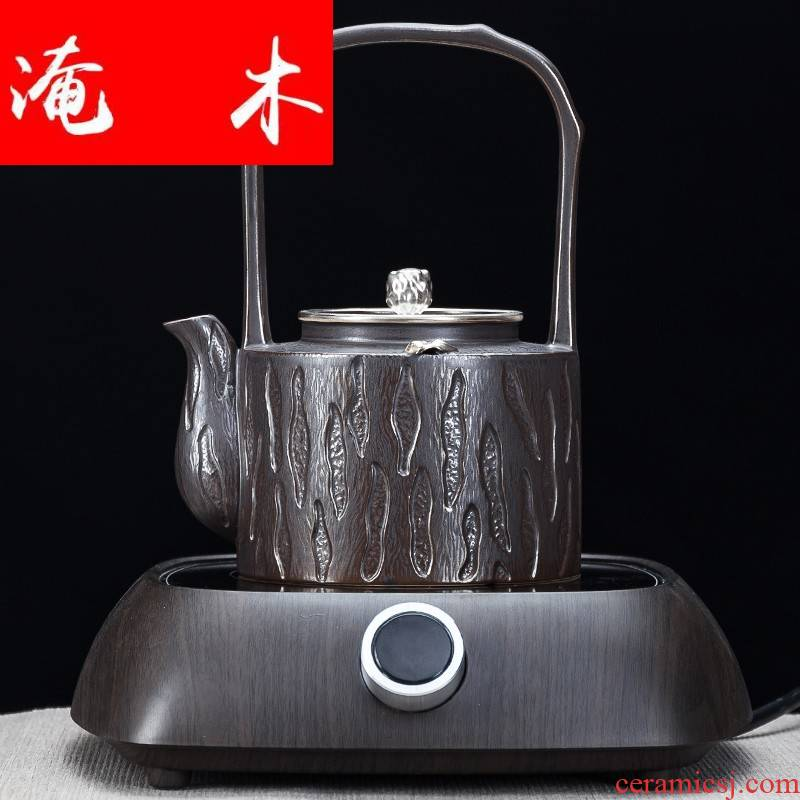 Submerged wood mini high - end tasted silver gilding ceramic cooking kettle electrothermal the boiled tea, the electric TaoLu household kettle for tea set