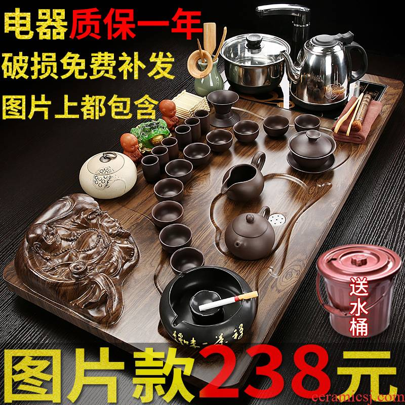 Hui shi contracted ceramic tea set a visitor office home sitting room of a complete set of tea cups tea tea tray was one