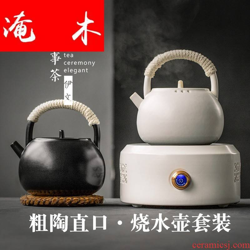 Submerged wood even ceramic kettle household electrical TaoLu restoring ancient ways suit boiled tea, tea boiled tea kettle to boil