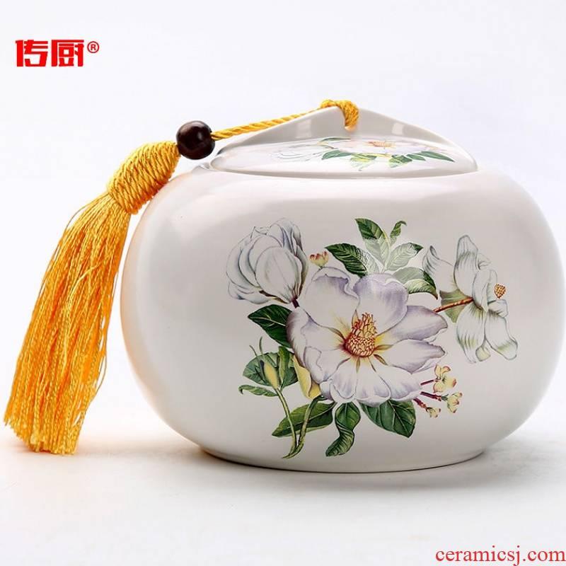 The kitchen ceramic tea pot optional along an abundant distribution 】 【 large half jins to household seal pot of black tea