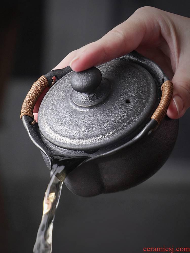 Japanese hand grasp nine soil pot teapot checking ceramic POTS sample tea cup cup a pot of four cups of kung fu tea set tea taking