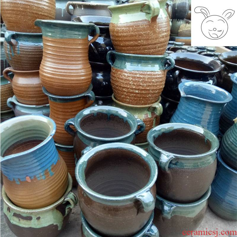 Special thick some ceramic porcelain flowerpot more flowers, green plant POTS much meat basin of zhuang zi breathable purple sand pottery basin