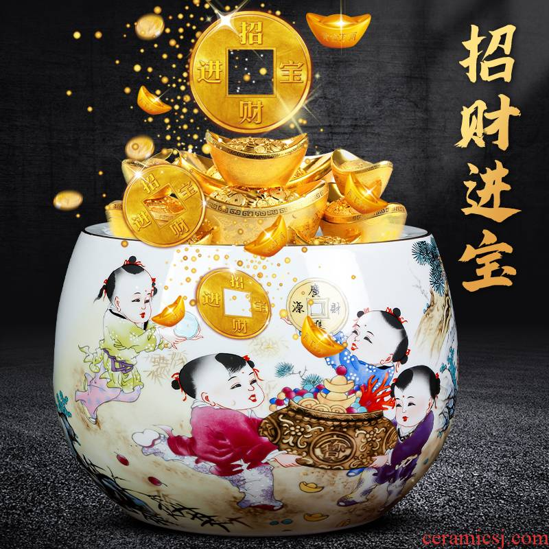 Maxim of jingdezhen ceramics powder enamel tank cornucopia creative Chinese style home sitting room adornment is placed