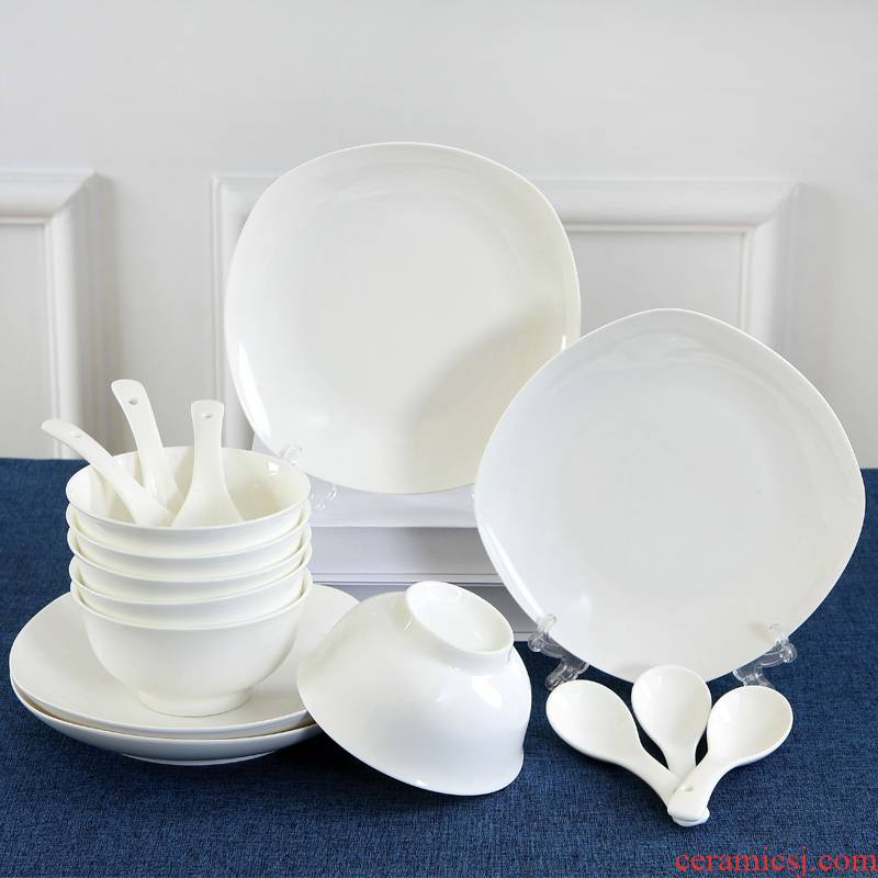 Qiao mu dishes suit 16 head authentic dishes with jingdezhen ceramics ipads porcelain tableware pure Japanese ritual