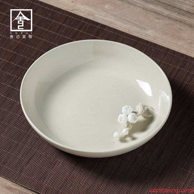 """The Self - """"appropriate content of jingdezhen plant ash dry mercifully pot of carving on Japanese tea taking accessories dry terms ceramic tea set"""