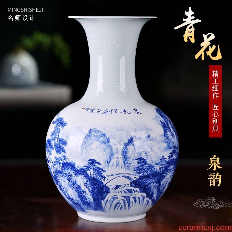 Jingdezhen ceramics vase hand - made Chinese style household flower arrangement sitting room adornment design porch place TV ark